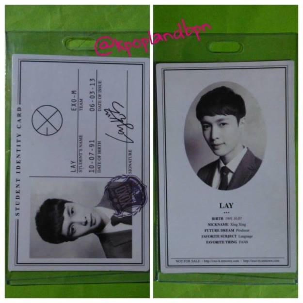 OFFICIAL PHOTOCARD FROM XOXO REG (Lay)